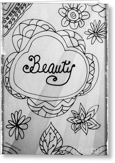 Greeting Card featuring the drawing Beauty by Rachel Maynard