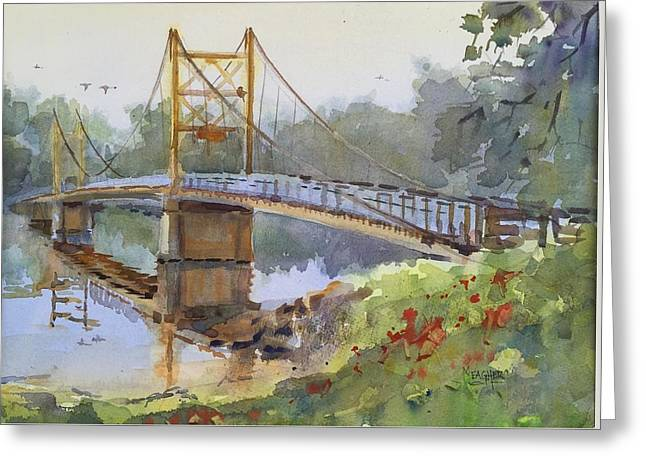 Beaver Bridge Greeting Card by Spencer Meagher