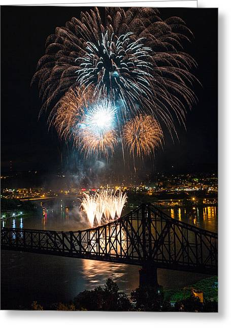 Beaver County Fireworks 2 Greeting Card by Emmanuel Panagiotakis