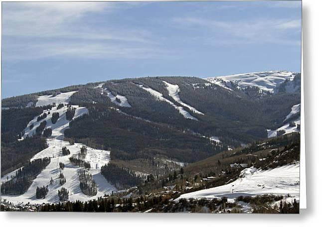 Beaver Creek Ski Resort Colorado Greeting Card by Brendan Reals
