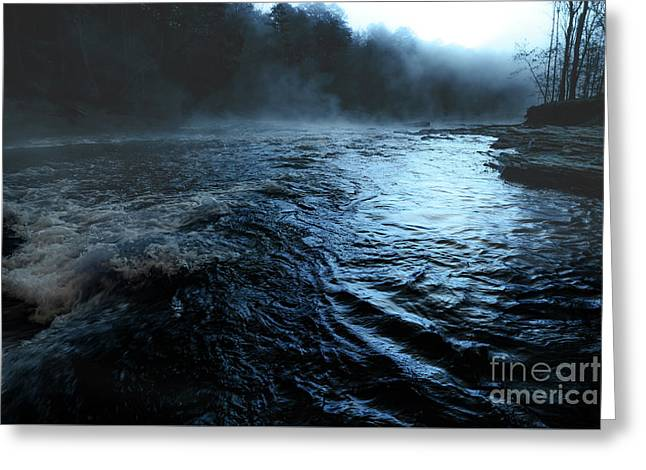 Beaver's Bend Fog Greeting Card by Tamyra Ayles