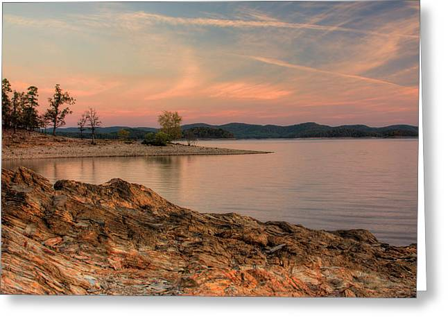 Beavers Bend Sunrise Greeting Card