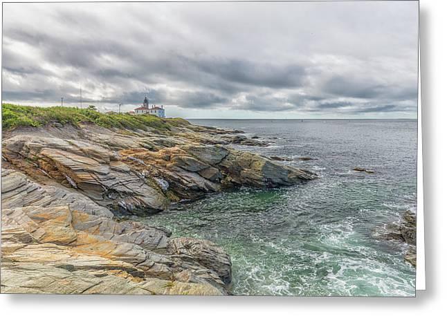 Beavertail Lighthouse On Narragansett Bay Greeting Card