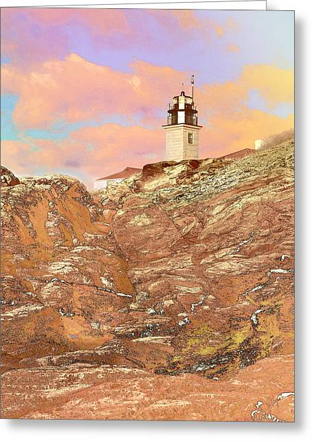 Beavertail Looking Surreal Greeting Card