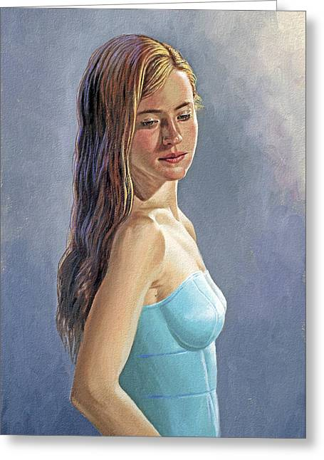 Becca-different Hairdo Greeting Card by Paul Krapf
