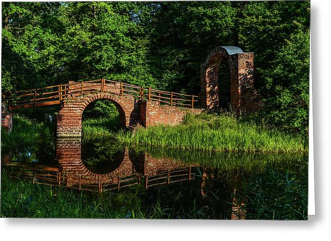 Beckerbruch Bridge Reflection Greeting Card