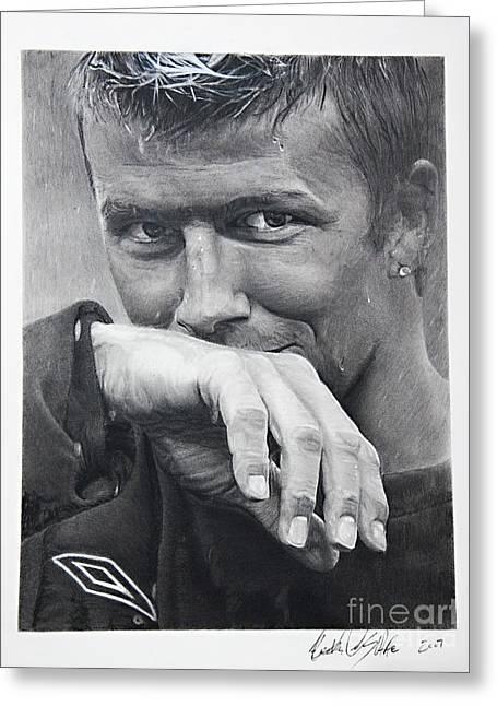 Beckham Greeting Card by Raymond Potts