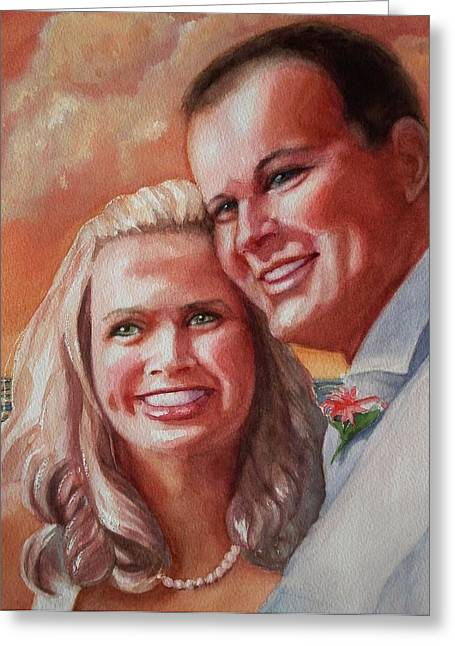 Becky And Chris Greeting Card by Marilyn Jacobson