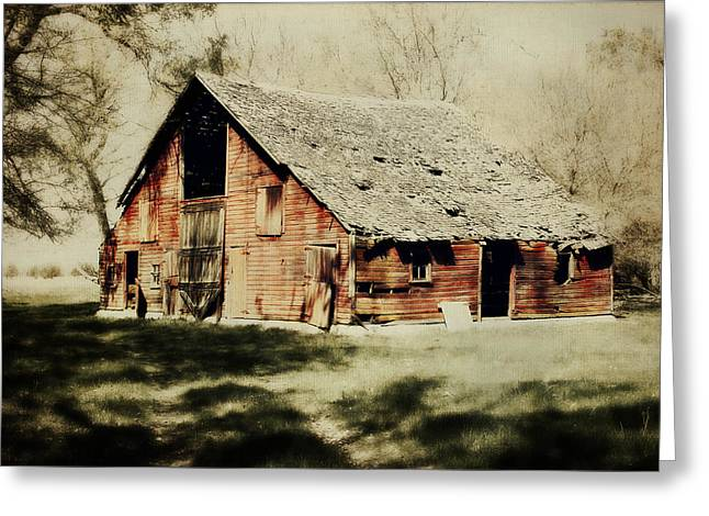 Beckys Barn 1 Greeting Card by Julie Hamilton