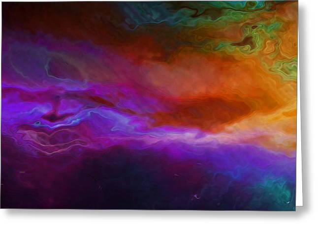 Becoming - Abstract Art - Triptych 1 Of 3 Greeting Card