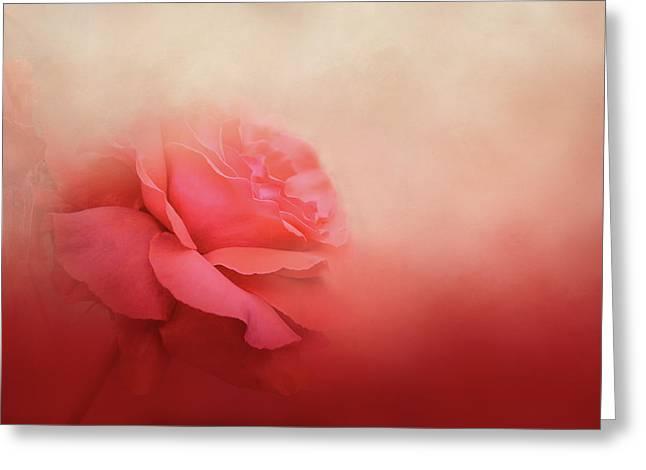 Becoming One Rose Art Greeting Card by Jai Johnson