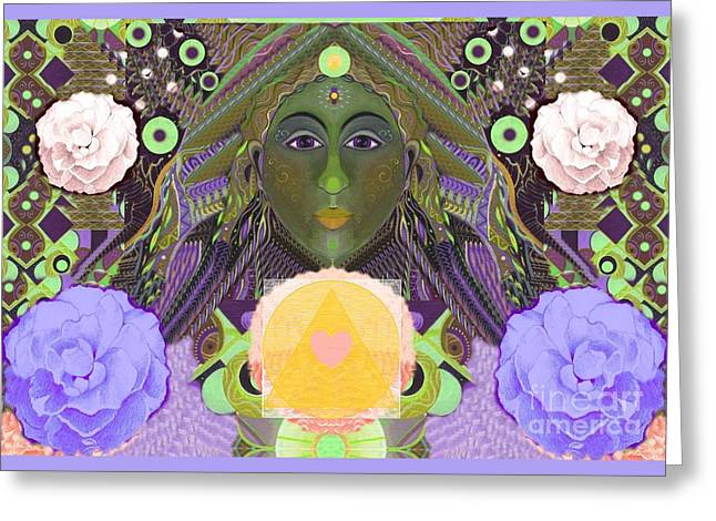 Becoming One - Version 1 Greeting Card by Helena Tiainen