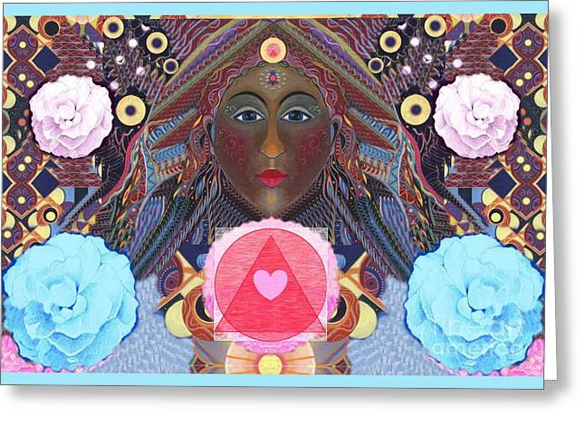 Becoming One - Version 4 Greeting Card by Helena Tiainen