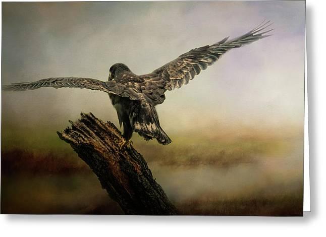 Becoming The Boss Bald Eagle Art By Jai Johnson Greeting Card