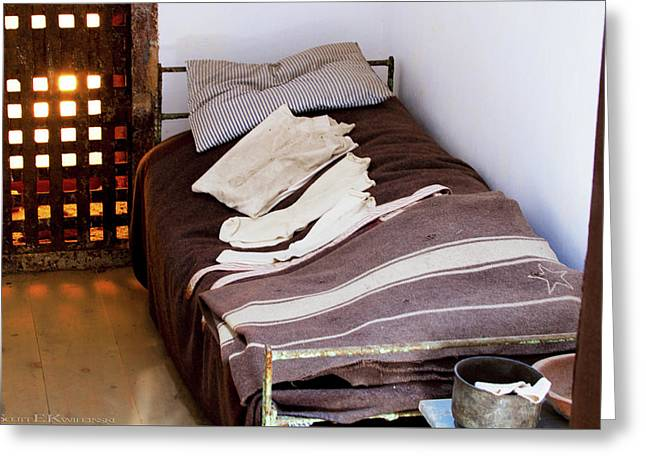 Bed At Eastern State Penitentiary  Greeting Card by Scott Kwiecinski