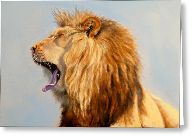 Bed Head - Lion Greeting Card