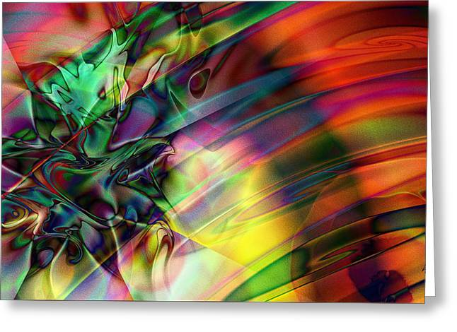 Greeting Card featuring the digital art Bedazzle by Kiki Art