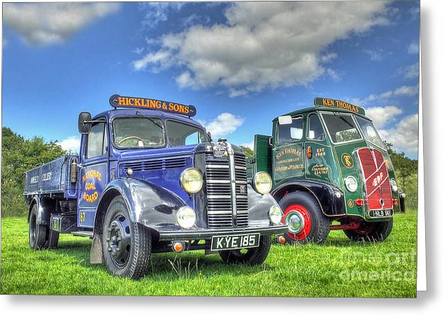 Bedford Dropside Tipper Greeting Card by Catchavista