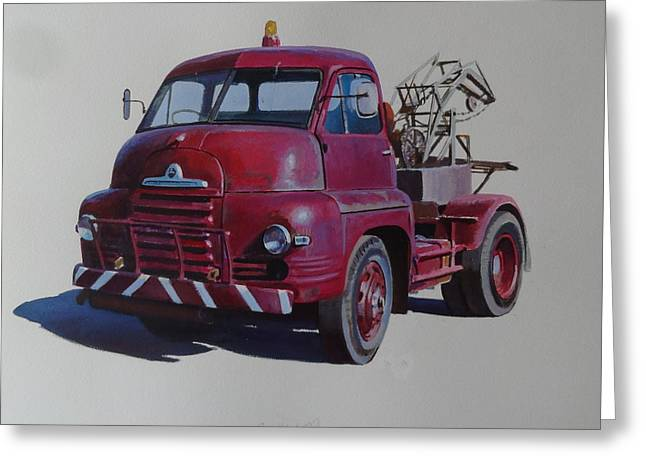 Bedford S Type Wrecker. Greeting Card by Mike  Jeffries