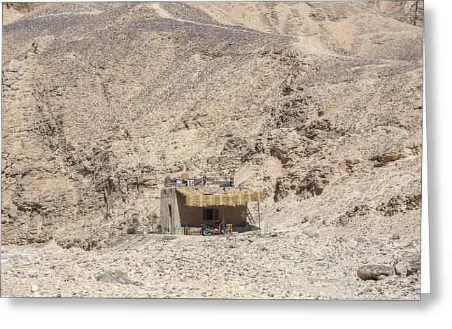 bedouin house in the desert in Egypt Greeting Card