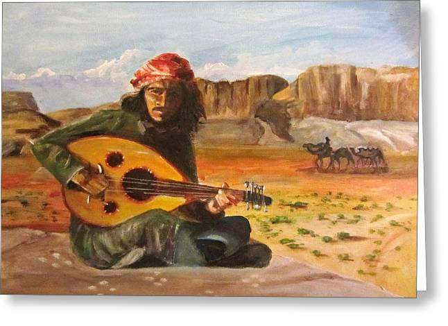 Bedouin Song  Greeting Card by Maria Milazzo