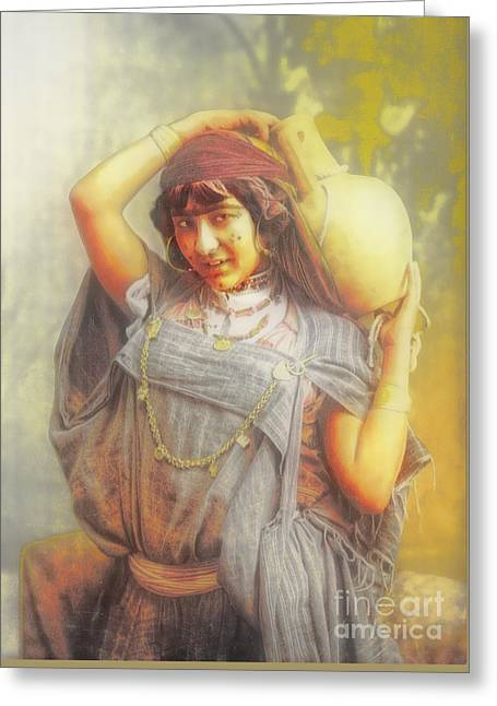 Bedouine Water Carrier Greeting Card by Jack Torcello
