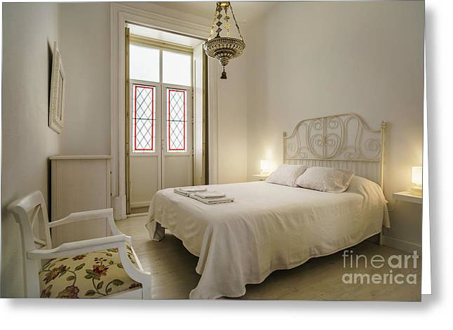 Greeting Card featuring the photograph Bedroom Apartment In The Heart Of Cadiz by Pablo Avanzini