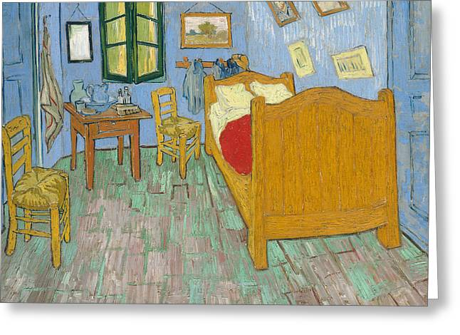 Greeting Card featuring the painting Bedroom At Arles by Van Gogh