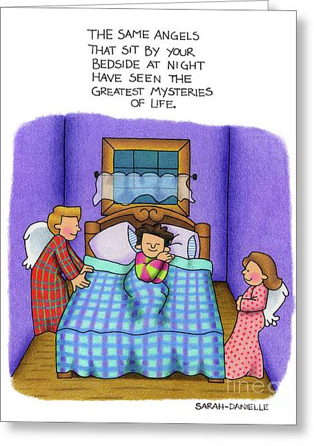 Bedside Vigil Greeting Card by Sarah Batalka