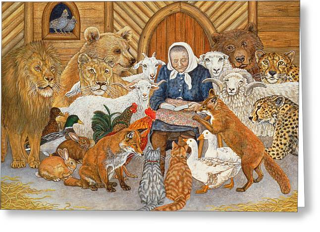 Bedtime Story On The Ark Greeting Card