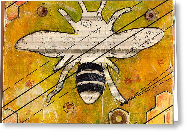 Bee Flat Greeting Card
