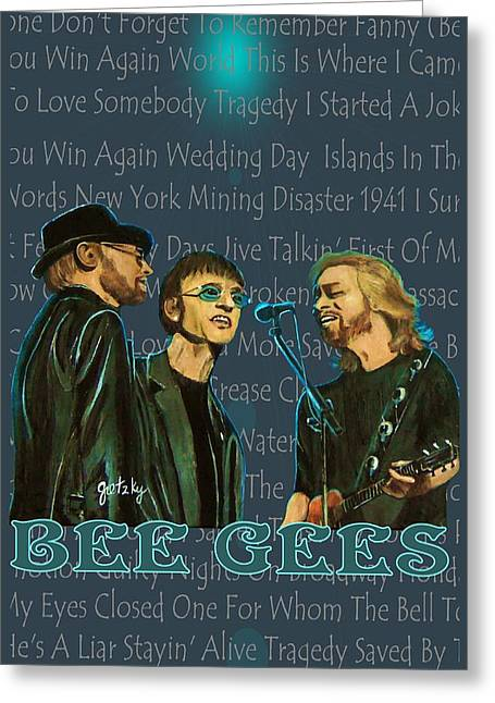 Bee Gees Poster Greeting Card