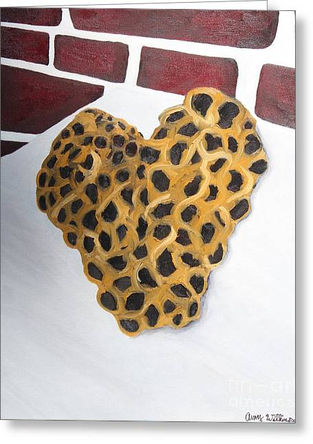 Bee Heart Greeting Card by Amy Wilkinson