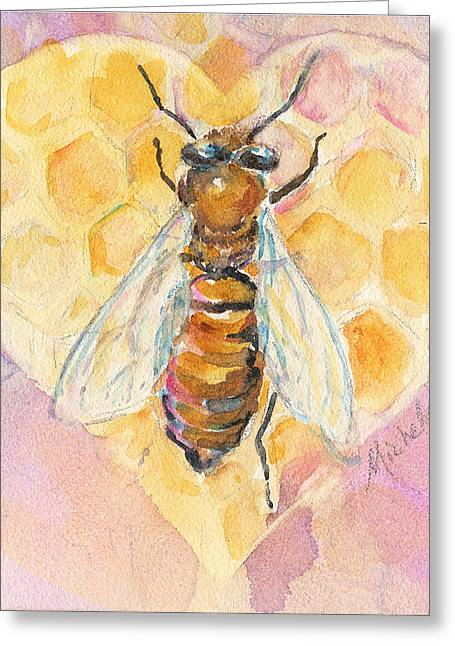 Bee Heart Greeting Card