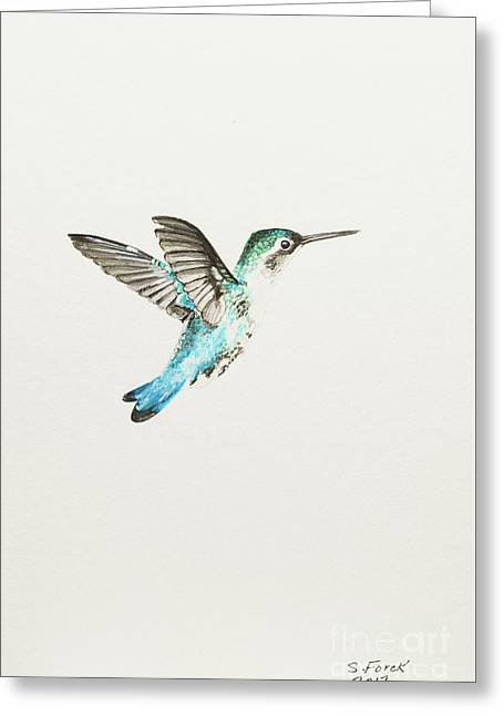 Bee Hummingbird Greeting Card