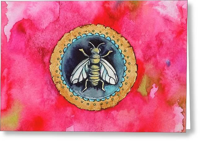 Bee Seal Greeting Card