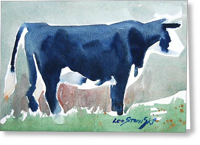 Beefer Study Greeting Card by Len Stomski