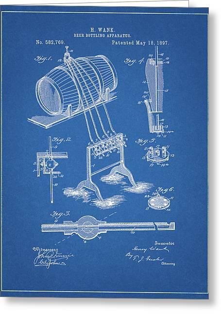 Beer Bottling Design Patent Greeting Card