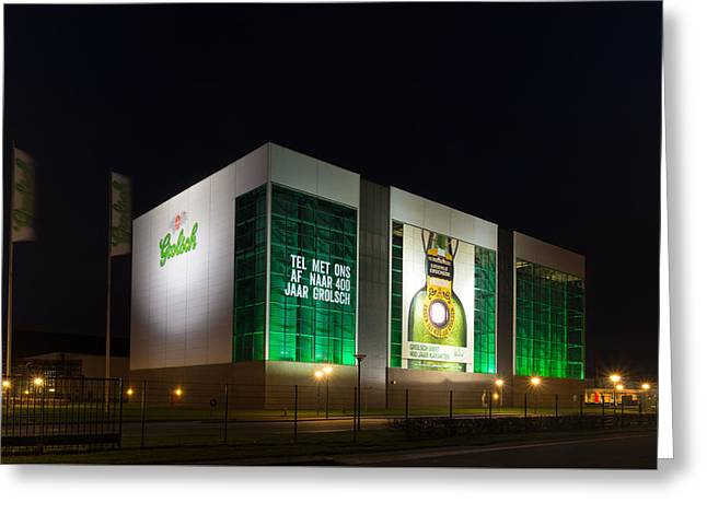 Beer Brewery At Night Greeting Card by Hans Engbers