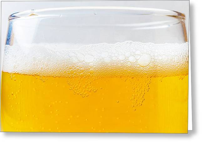 Beer Bubbles Greeting Card by Garry Gay