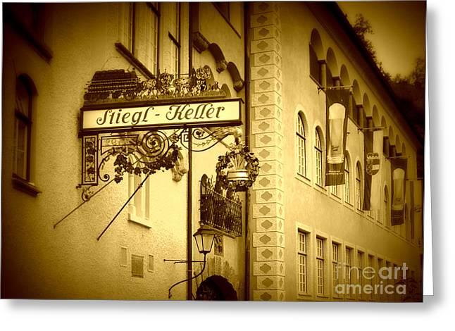 Beer Cellar In Salzburg Greeting Card