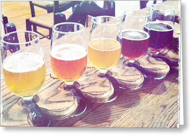 Beer Flight Greeting Card by Nina Prommer