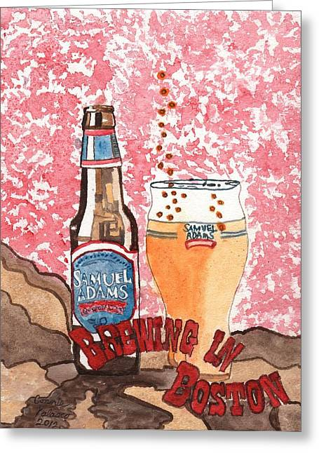 Beer From A Bottle No.6 Greeting Card by Connie Valasco