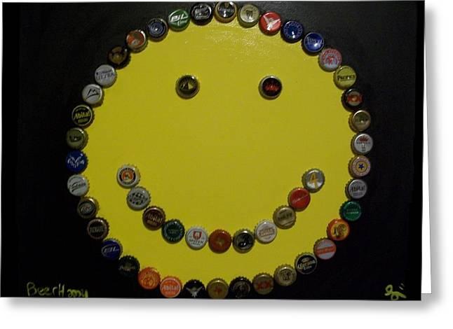 Beer Happy Greeting Card