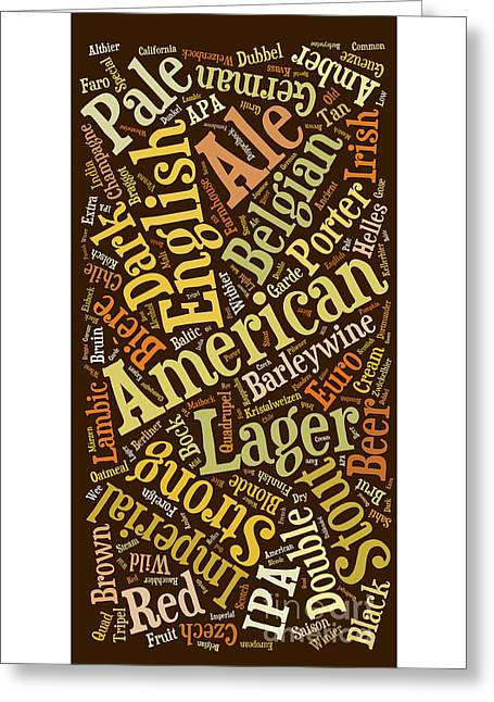 Beer Lover Cell Case Greeting Card