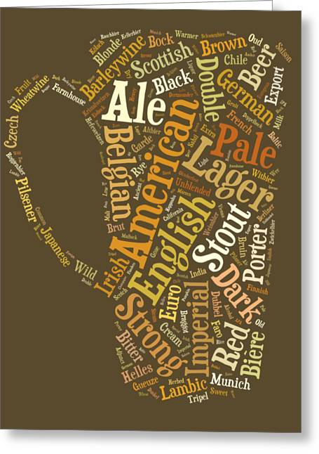 Beer Lovers Tee Greeting Card