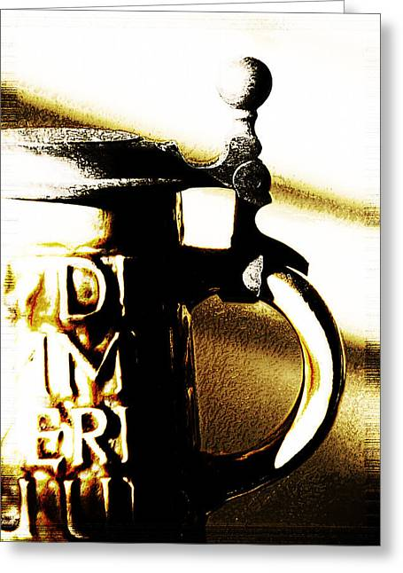 Beer Stein Greeting Card by Simone Hester