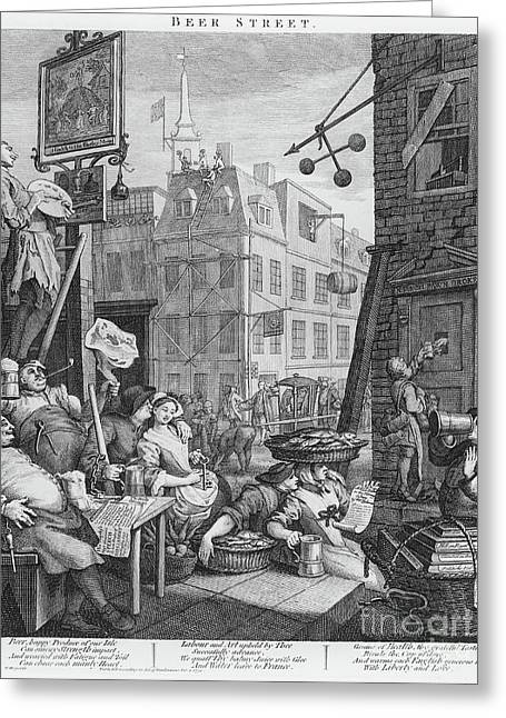 Beer Street, 1751 Greeting Card by William Hogarth