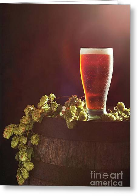 Beer With Hops Greeting Card