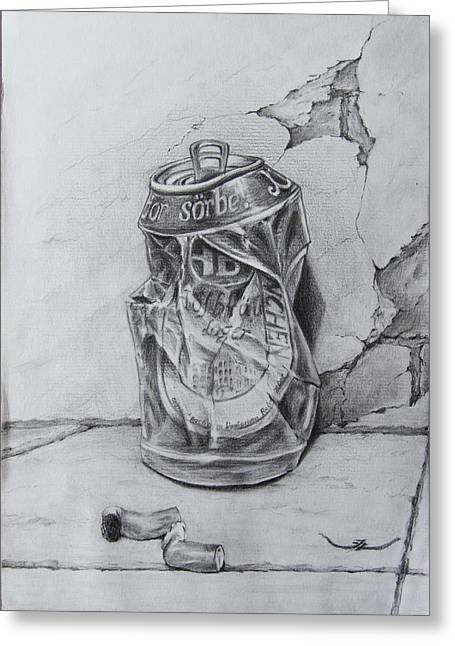 Beercan Greeting Card